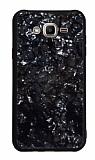 Samsung Galaxy J2 Desenli Silikon Kenarlı Siyah Rubber Kılıf