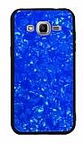 Samsung Galaxy J2 Desenli Silikon Kenarlı Lacivert Rubber Kılıf