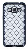 Samsung Galaxy J2 Diamond Siyah Kenarlı Şeffaf Silikon Kılıf