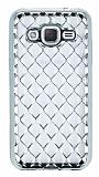 Samsung Galaxy J2 Diamond Silver Kenarlı Şeffaf Silikon Kılıf