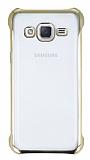 Samsung Galaxy J2 Gold Kenarlı Şeffaf Rubber Kılıf