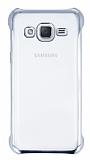 Samsung Galaxy J2 Silver Kenarlı Şeffaf Rubber Kılıf
