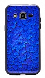 Samsung Galaxy J2 Marble Lacivert Silikon Kılıf