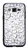 Samsung Galaxy J2 Marble Beyaz Silikon Kılıf