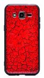 Samsung Galaxy J2 Marble Kırmızı Silikon Kılıf