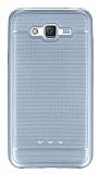 Samsung Galaxy J7 Metalik Noktalı Silver Silikon Kılıf