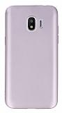 Samsung Galaxy J2 Pro 2018 Mat Mürdüm Rose Gold Silikon Kılıf