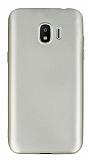 Samsung Galaxy J2 Pro 2018 Mat Gold Silikon Kılıf