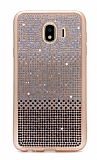 Samsung Grand Prime Pro J250F Taşlı Geçişli Siyah Silikon Kılıf