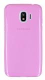 Samsung Galaxy J2 Pro 2018 Ultra İnce Şeffaf Pembe Silikon Kılıf
