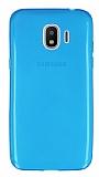 Samsung Galaxy J2 Pro 2018 Ultra İnce Şeffaf Mavi Silikon Kılıf