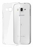 Samsung Galaxy J2 Tam Kenar Koruma Şeffaf Rubber Kılıf