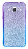 Samsung Galaxy J2 Simli Mor Silikon Kılıf