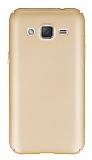 Samsung Galaxy J2 Tam Kenar Koruma Gold Rubber Kılıf
