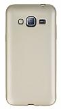Samsung Galaxy J3 2016 Mat Gold Silikon Kılıf