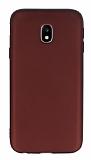 Samsung Galaxy J3 2017 Mat Bordo Silikon Kılıf