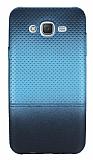 Samsung Galaxy J3 Mavi Noktalı Ultra İnce Silikon Kılıf