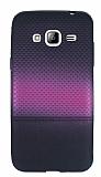 Samsung Galaxy J3 Mor Noktalı Ultra İnce Silikon Kılıf