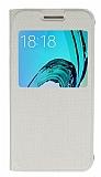 Samsung Galaxy J3 2016 Pencereli �nce Kapakl� Gold K�l�f