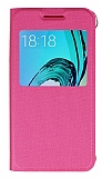 Samsung Galaxy J3 2016 Pencereli �nce Kapakl� Pembe K�l�f
