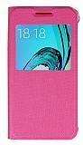Samsung Galaxy J3 2016 Pencereli İnce Kapaklı Pembe Kılıf