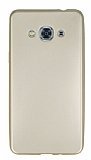 Samsung Galaxy J3 Pro Mat Gold Silikon Kılıf
