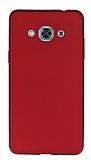Samsung Galaxy J3 Pro Mat Kırmızı Silikon Kılıf