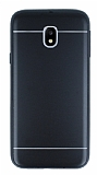 Samsung Galaxy J3 2017 Silikon Kenarlı Metal Siyah Kılıf