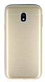 Samsung Galaxy J3 2017 Silikon Kenarlı Metal Gold Kılıf