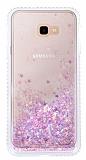 Samsung Galaxy J4 Plus Simli Sulu Mor Rubber Kılıf