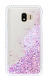 Samsung Galaxy J4 Simli Sulu Pembe Rubber Kılıf