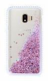 Samsung Galaxy J4 Simli Sulu Rose Gold Rubber Kılıf