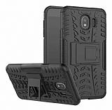 Samsung Galaxy J4 Süper Koruma Standlı Siyah Kılıf