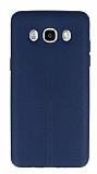 Samsung Galaxy J5 2016 Deri Desenli Ultra İnce Lacivert Silikon Kılıf