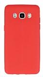 Samsung Galaxy J5 2016 Deri Desenli Ultra İnce Kırmızı Silikon Kılıf