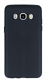 Samsung Galaxy J5 2016 Deri Desenli Ultra İnce Siyah Silikon Kılıf