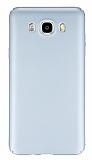 Samsung Galaxy J5 2016 Tam Kenar Koruma Silver Rubber K�l�f