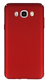 Samsung Galaxy J5 2016 Tam Kenar Koruma K�rm�z� Rubber K�l�f