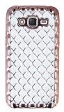 Samsung Galaxy J5 Diamond Rose Gold Kenarlı Şeffaf Silikon Kılıf