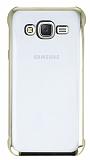 Samsung Galaxy J5 Gold Kenarlı Şeffaf Rubber Kılıf