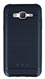 Samsung Galaxy J5 Metalik Noktal� Siyah Silikon K�l�f