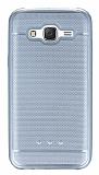 Samsung Galaxy J5 Metalik Noktal� Silver Silikon K�l�f