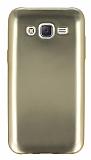 Samsung Galaxy J5 Metalik Gold Silikon K�l�f