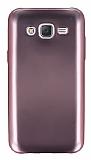 Samsung Galaxy J5 Metalik Pembe Silikon K�l�f