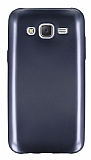 Samsung Galaxy J5 Metalik Siyah Silikon K�l�f