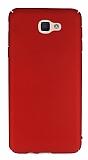 Samsung Galaxy J5 Prime Tam Kenar Koruma Kırmızı Rubber Kılıf