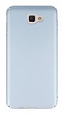 Samsung Galaxy J5 Prime Tam Kenar Koruma Silver Rubber Kılıf