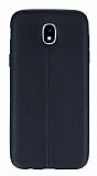 Samsung Galaxy J5 Pro 2017 Deri Desenli Ultra İnce Siyah Silikon Kılıf