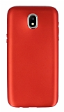 Samsung Galaxy J5 Pro 2017 Metal Kamera Korumalı Kırmızı Silikon Kılıf