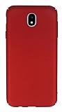 Samsung Galaxy J5 Pro 2017 Tam Kenar Koruma Kırmızı Rubber Kılıf